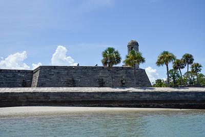 View of Castillo de San Marcos from the Matanza Bay