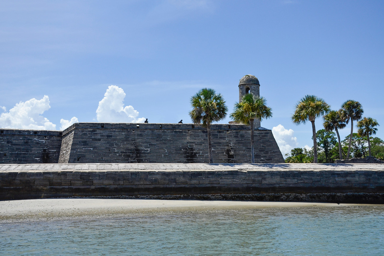 View of Castillo de San Marcos from the Matanza Bay