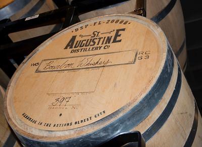 St. Augustine Distillery - barrels of their inaugural bourbon whiskey
