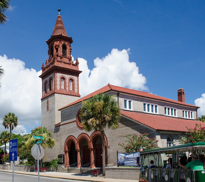 Grace United Methodist Church - n exchange for the land to build the Alcazar Hotel, Henry Flagler had his architects, John Carrere and Thomas Hastings, build this church, completed in 19887, in the Spanish Renaissance Revival style of architecture.