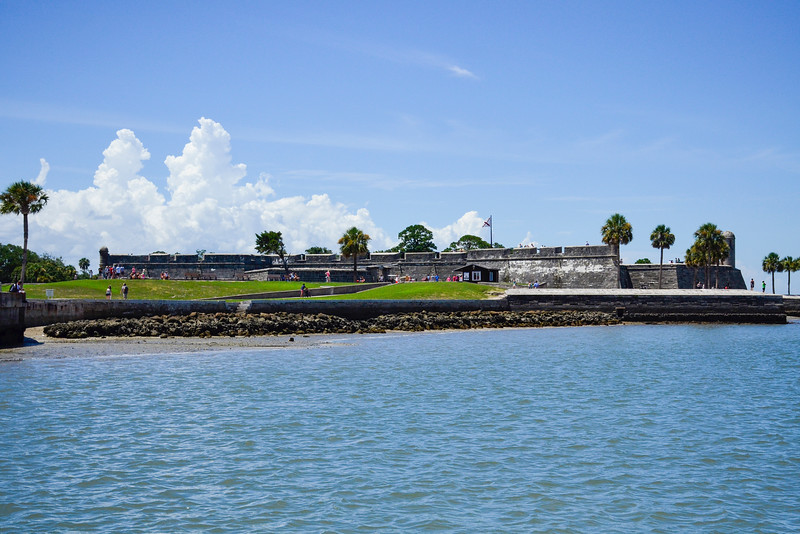 View of Castillo De San Marcos, from our tour boat, the Victory III