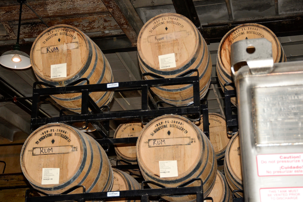St. Augustine Distillery - barrels of rum