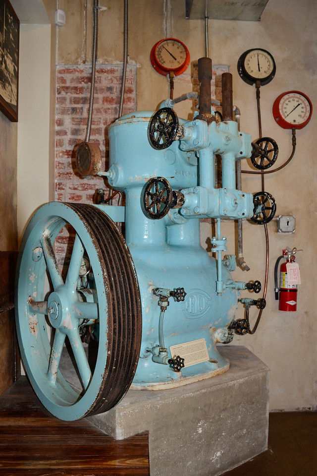 Equipment from the original Ice House, now the location of the St. Augustine Distillery