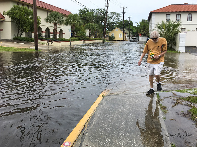 Flooded St. Augustine streets