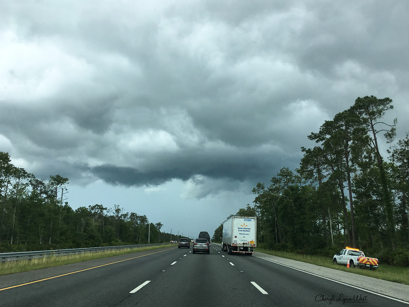 Approaching St. Augustine and a downpour