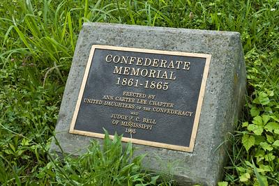 Confederate Soldier memorial marker