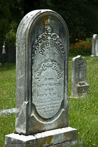John Pepper is buried next to his wife and several other family members.