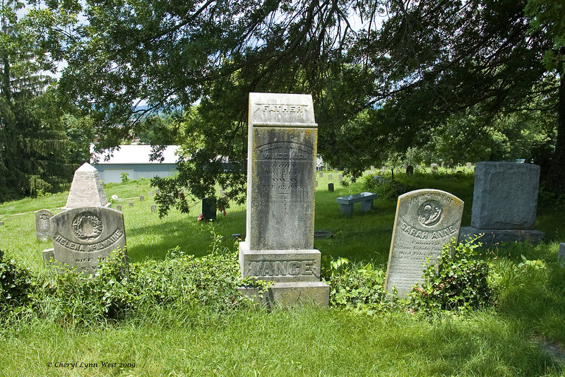 Family grave of William Vance, his wife Helena (on the left) and his consort, Sarah Anne (on left).  It is graves like this which makes you wonder about the people's lives and who they were.