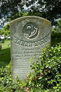 Grave of Sarah Anne, the consort of William Vance.  Sarah died at the age of 17 years.