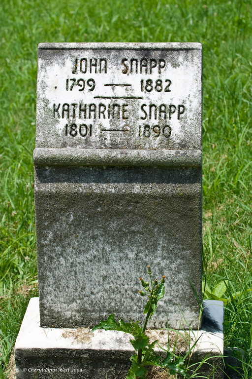 John Snapp and his wife Katharine also lived a long life together.