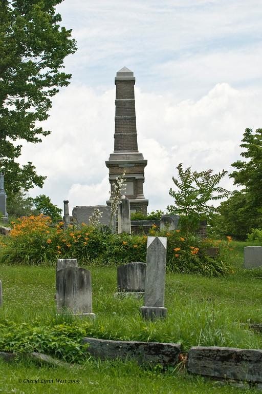 Family plot in East Hills Cemetery