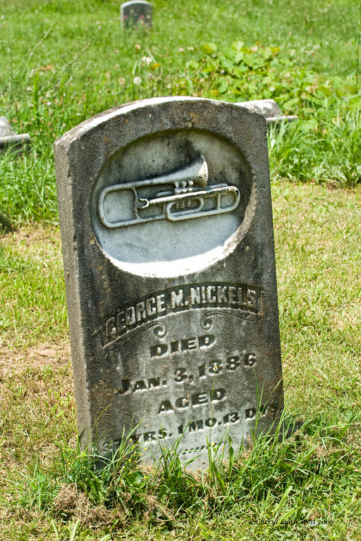 Sometimes a grave will make you wonder about the story behind it.  Was George Nickels a bugler for the army?