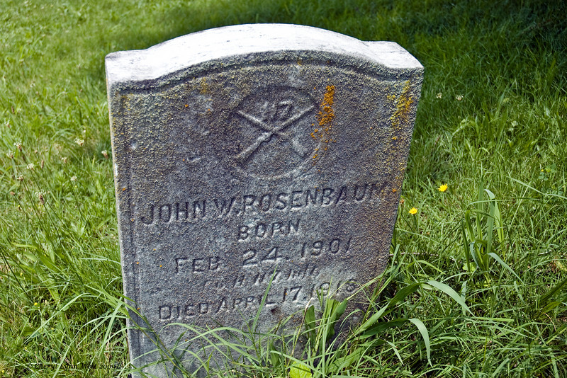 John Rosenbaum, only 17 years old, was a soldier during World War I.