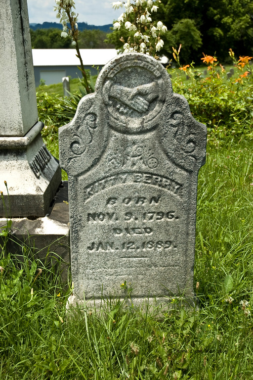 Grave of Kitty Berry, who lived to the age of 93.