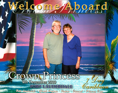 First photo as we boarded the ship. I drive Frank crazy as I buy of the photos taken each day.