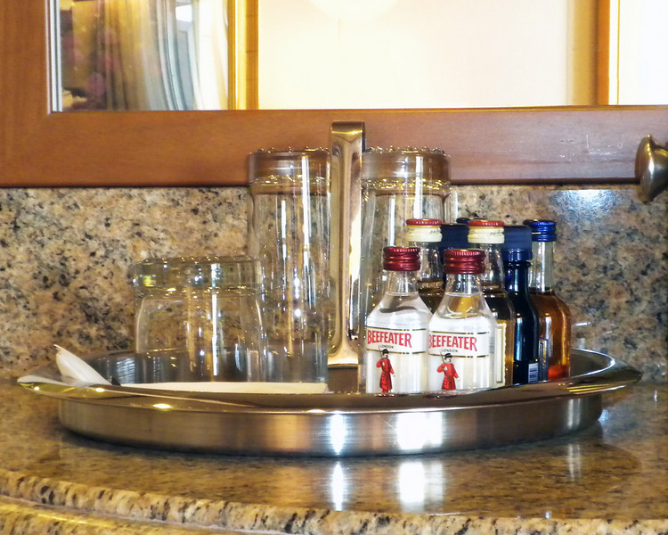 As we had a penthouse suite, complimentary bar set-up was included.