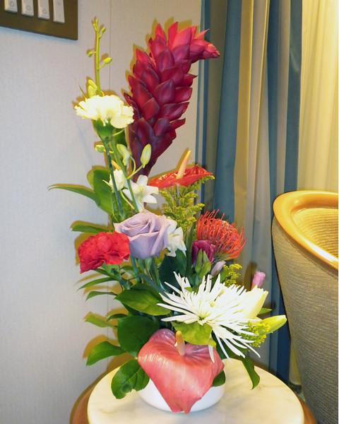 Fresh flower arrangement in our penthouse suite