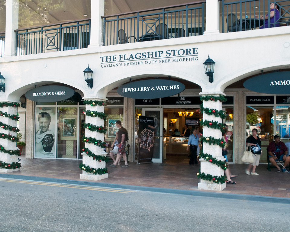 One of the shops on Grand Cayman