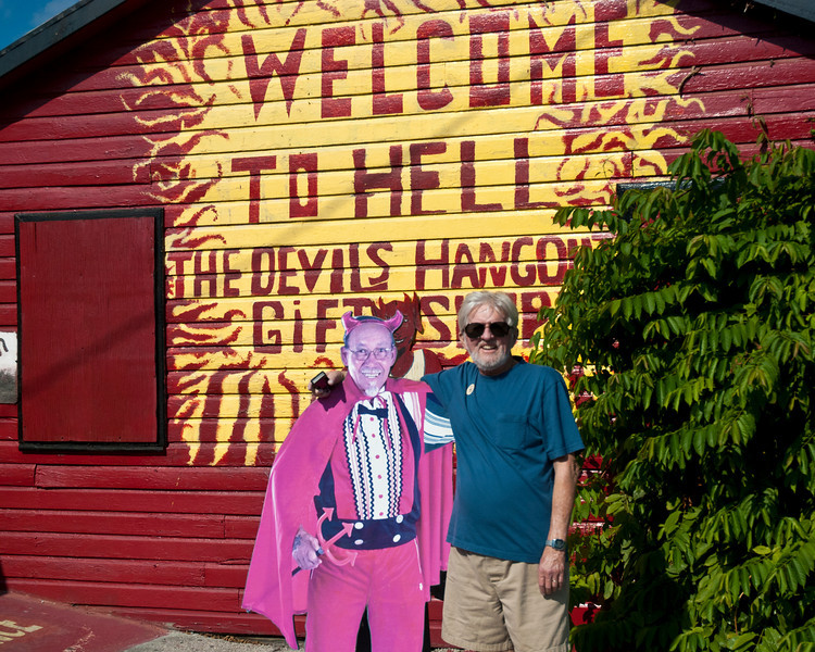 Frank in front of the Hell General Store
