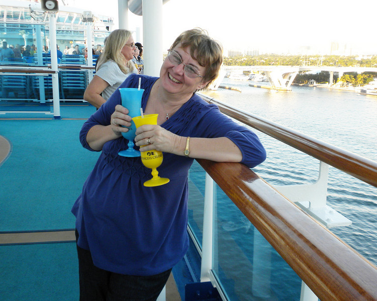 And then there are drinks on deck as we set sail. Is it just me or is the ship rocking?