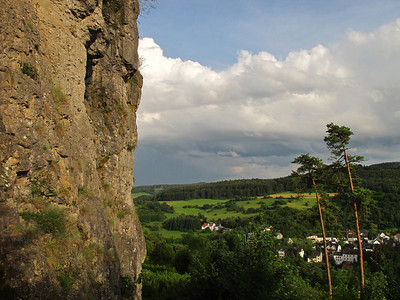 Climbing at the Hustley in Gerolstein