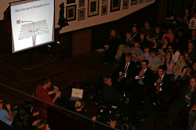 Hawking giving a public talk