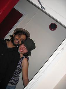 Visha and me at the hats'n beards party