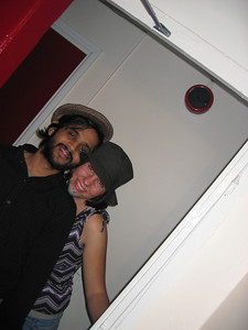 Visha and me at the hats'n beards party