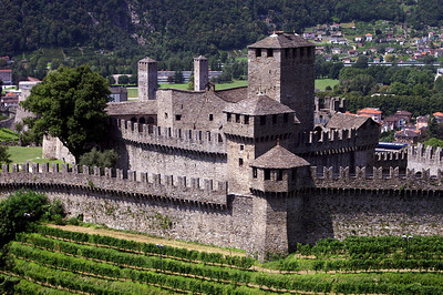 Last stop before we have to head back to Germany for the first exams - the Castello di Montebello in Bellinzona