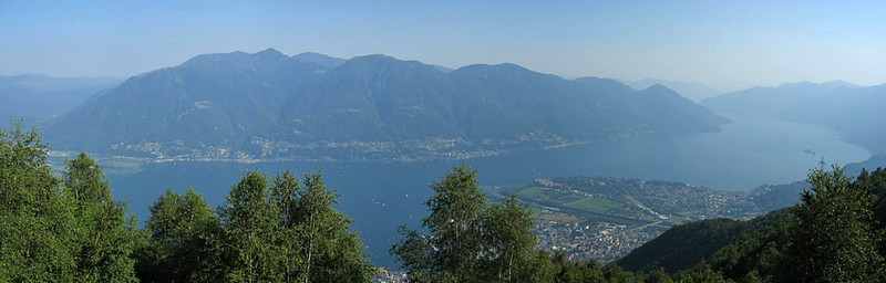 Lago Maggiore as seen from the mountain (Contra) closest to Locarno