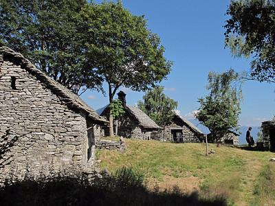Little village above the Lago di Vogorno, near Mergoscia