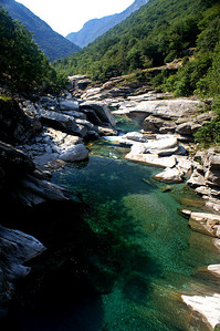The river Verzasca at Corippo