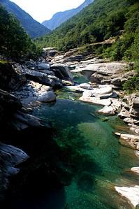 The river Verzasca at Corippo