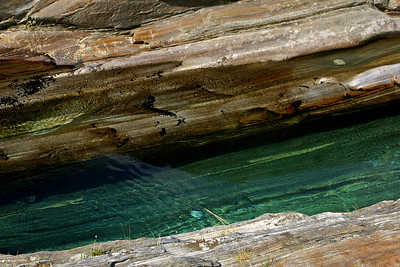 The emerald-green water of the Verzasca