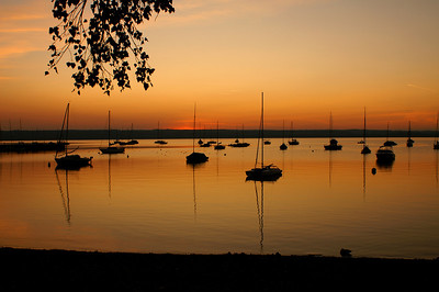 Sunset at the Ammersee