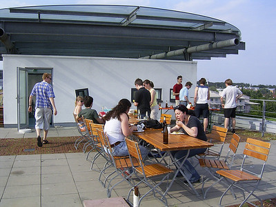 Barbeque on the roof of the HdM