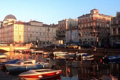 Aperol Spritz at the canal grande in Trieste