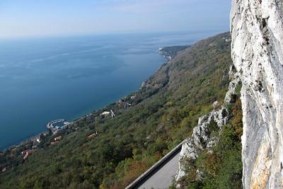 Climbing at Napoleonica near Trieste
