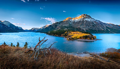 Sofa Mountain over Waterton Lake
