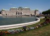 Belvedere  palace constructed for Prince Eugene of Savoy, Vienna, Austria, Europe.
