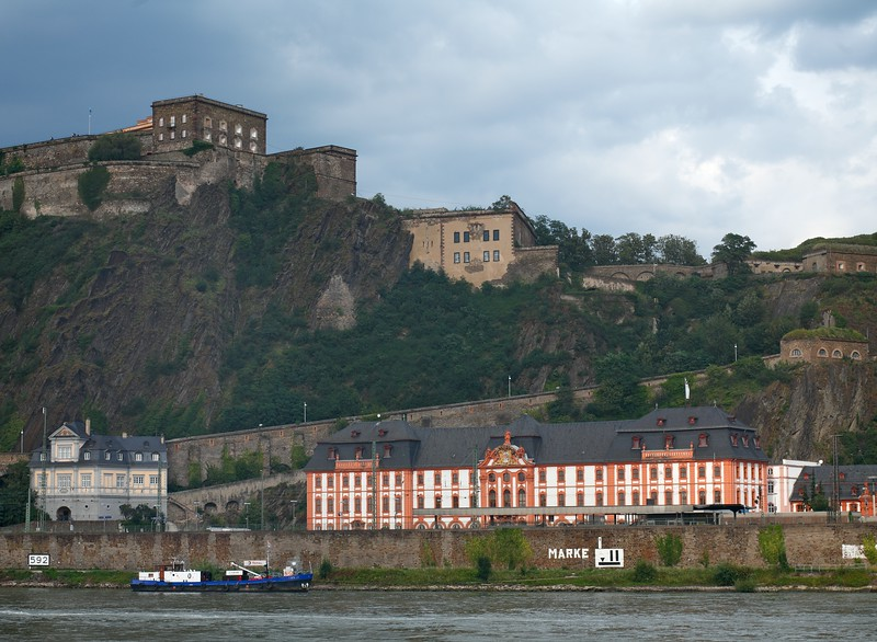Castle in Koblenz on the Rhine river in Germany.