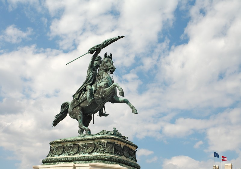 Statue of Archduke Charles at Heldenplatz (Heroes Square), Vienna,  Austria, Europe