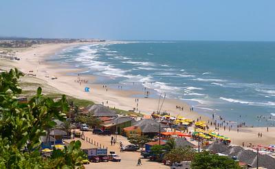 A Brazilian beach, Canoa Quebrada, Ceara, Brazil, South America.