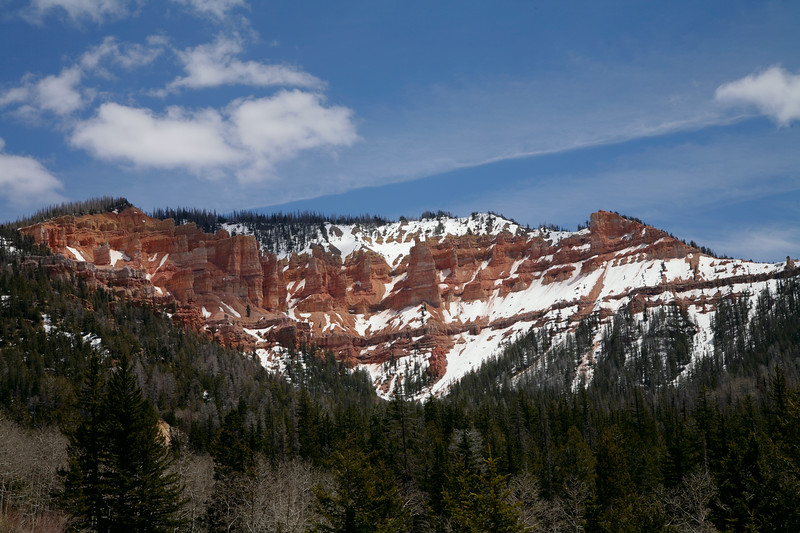 Cedar Mountain, view from the road 14, Utah, USA.