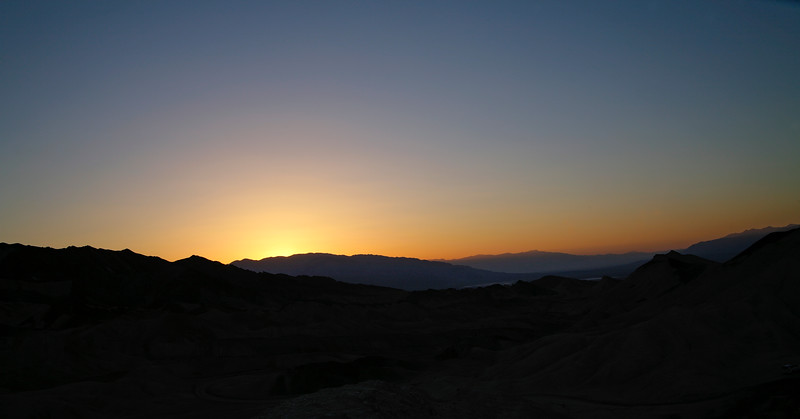 Sunset, Death Valley National Park, California and Nevada, USA.
