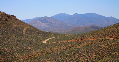 Road to the Aguereberry Point, Death Valley National Park, California and Nevada, USA.
