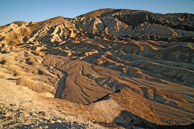 Dried river in the Twenty Mule Team Canyon, Death Valley National Park, California and Nevada, USA.