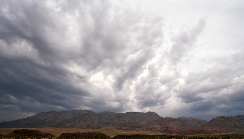 A storm over the Amorgosa Range, Death Valley National Park, California and Nevada, USA. The picture is taken near the the entrance into the Warm Spring Canyon.