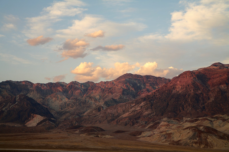 Amargosa Range as seen from Devil's Golf Course during sunset, Death Valley National Park, California and Nevada, USA.