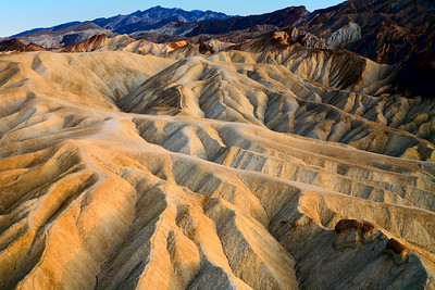 Zabriskie Point at sunrise, Death Valley National Park, California and Nevada, USA.
